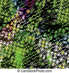 pixels psychedelic abstract geometric pattern