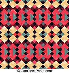 pixels seamless pattern in retro style