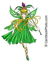 Pixie - Fantasy illustration of a pixie