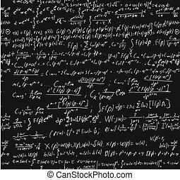 pizarra, calculation., matemáticas