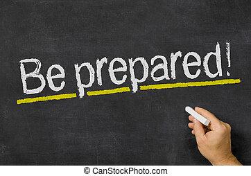 pizarra, con, el, texto, ser, preparado