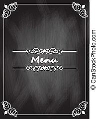 pizarra, menú, diseño