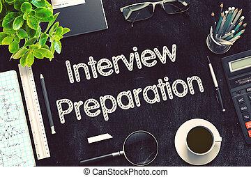 pizarra, rendering., entrevista, negro, preparation., 3d