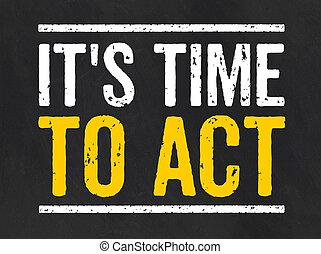 pizarra, tiempo, texto, su, acto