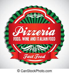pizzéria, címke