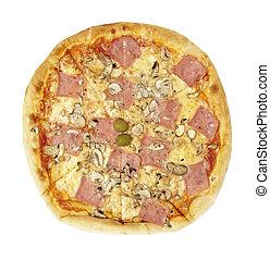 pizza, élelmiszer, étkezés