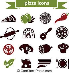 pizza, ícones