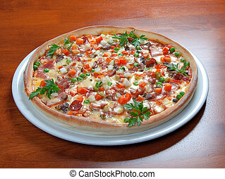 pizza., 食物, 速い