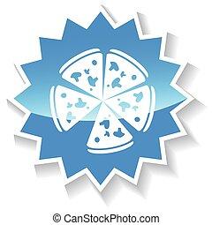 Pizza blue icon