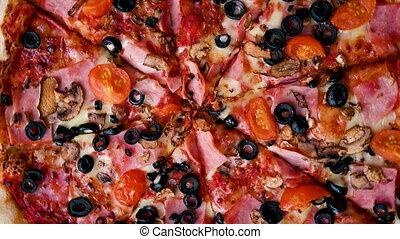 pizza, boîte carton