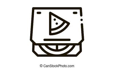 pizza box Icon Animation