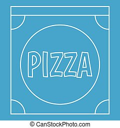 Pizza box icon, outline style