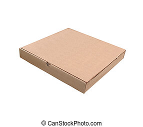 Pizza box isolated on a white background