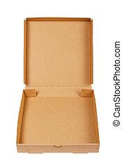 Pizza carton box isolated on white background