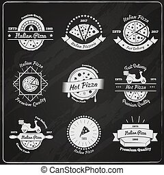 Pizza Chalkboard Emblems Collection