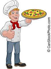 Pizza Chef Cartoon
