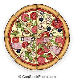 pizza color picture