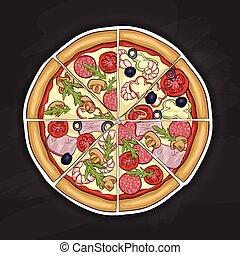 pizza color picture sticker