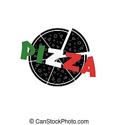 pizza color vector