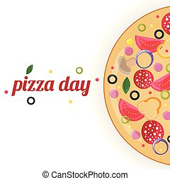 Pizza day concept.