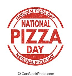 Pizza day sign or stamp
