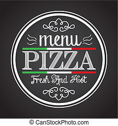 pizza design  - pizza graphic design , vector illustration