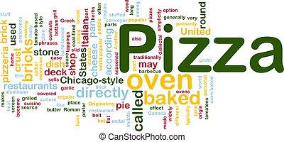 Pizza dish background concept - Background concept...