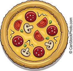Pizza - Illustration of a tasty pizza