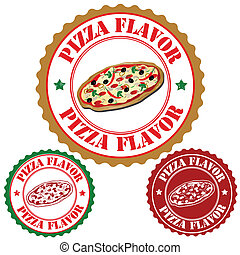 Pizza flavor stamps