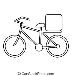 pizza food delivery bicycle outline