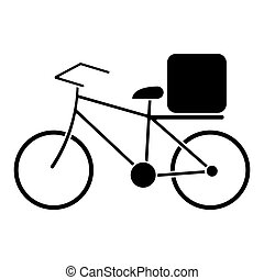 pizza food delivery bicycle pictogram