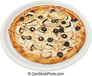 pizza, funghi