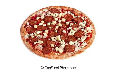 Pizza Gets Cooked Transition - Transition from raw to cooked...