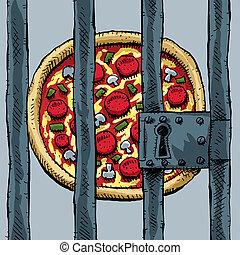 pizza, gevangenis