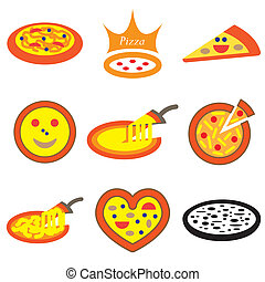 pizza hand drawn icons