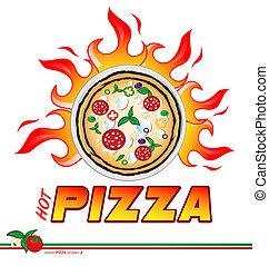 pizza, heiß, projekt