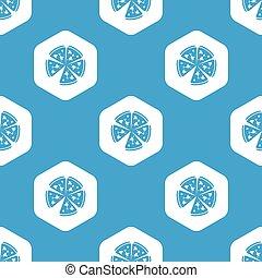 Pizza hexagon pattern