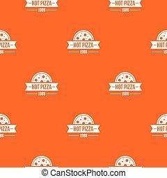 Pizza hot pattern vector orange