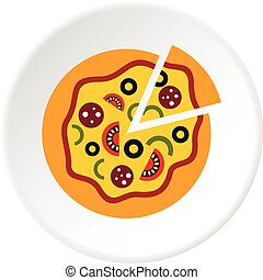 Pizza icon circle