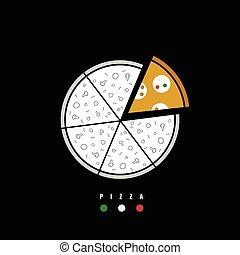 pizza icon color illustration