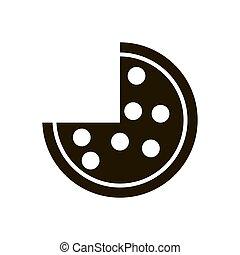 Pizza icon on white background. Eps 10 flat style.