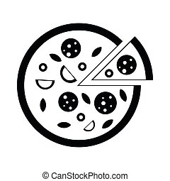 Pizza icon, simple style