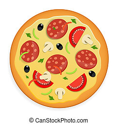 Pizza icon vector illustration.