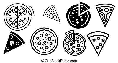 Pizza icon Vector illustration on the white background