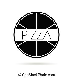 pizza icon vector illustration