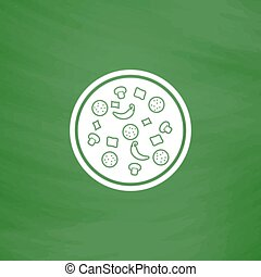 Pizza icon. VECTOR illustration.