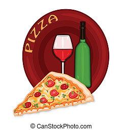 pizza, icona