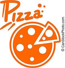 pizza, ikone