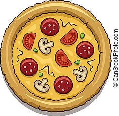 Pizza - Illustration of a tasty pizza