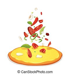 Pizza Ingredients Pizzas and Falling Ingredient
